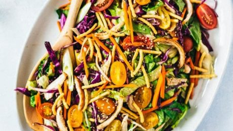 Chinese Chicken Salad with Nut Dressing