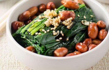 Chinese Spinach and Peanut Salad