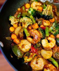 Szechuan Shrimp Stir Fry With Fried Rice 2